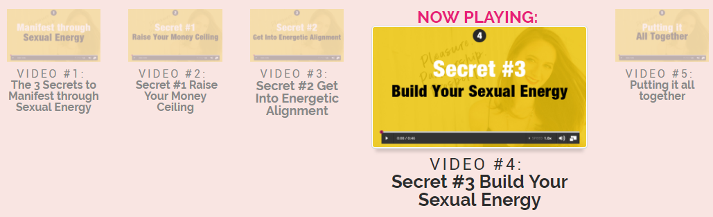 Video # 4: Secret #3 Build Your Sexual Energy